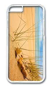 MOKSHOP Adorable beach sand grass sunshine Hard Case Protective Shell Cell Phone Cover For Apple Iphone 6 (4.7 Inch) - PC Transparent by lolosakes