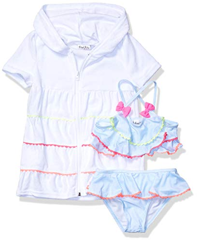 - Freestyle Revolution Little Girls' 2Pc Picnic Party Set with Terry Cover Up, Multi, 6X