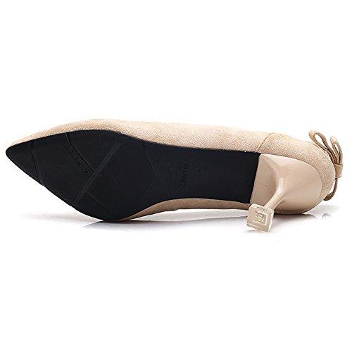 Femmes Chaussures Kitten Suede Toe Glissement Talons Party Les De Chaussures Prom Court Dames Beige Mariée Sur Pointu Mariée De De Pw4PqIxr