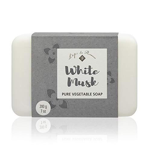 L'Epi de Provence White Musk Vegetable Shea Butter Soap, Pack of 4 Bars