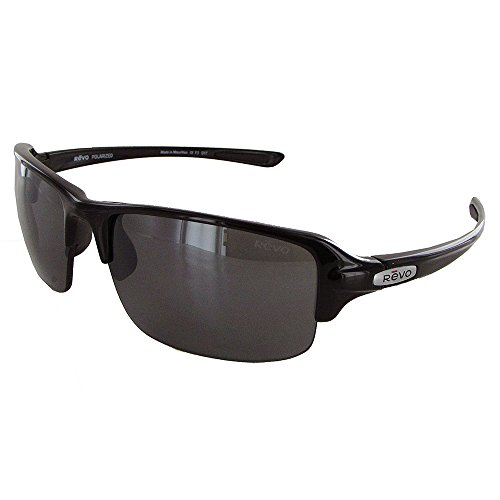 Revo Re 4041x Abyss Wraparound Polarized Wrap Sunglasses, Black Graphite, 66 mm (Abyss Apparel)