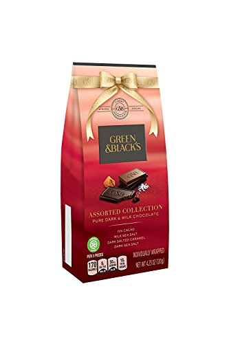 Green & Black's Dark and Milk Chocolate Pieces Variety Pack, 4.23 Ounce (Pack of 8)