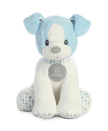 First Blue Puppy - Ebba My First Puppy Polka Dot Medium Plush Toy, Blue
