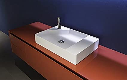 Lavabi Antonio Lupi Simplo lavabo rettangolare SIMPLO63: Amazon.it ...