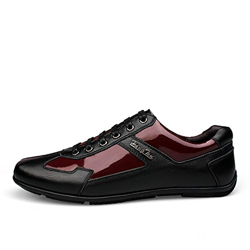 CFP - Zapatos Planos con Cordones hombre, color rojo, talla 41 EU
