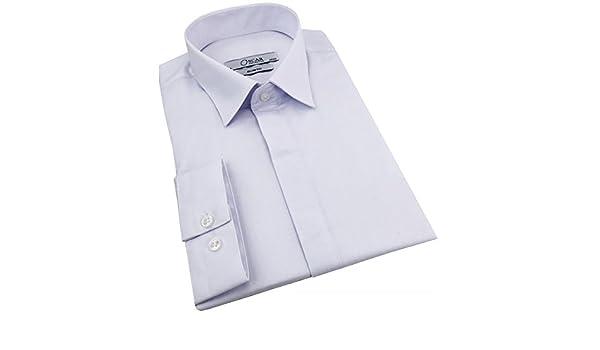FBC Camisa para Hombre Cintrée Blanca Botones cachés – L: Amazon.es: Ropa y accesorios