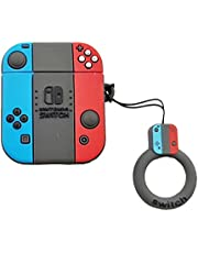Switch Case for Airpods 1st/2nd, 3D Cartoon Nintendo Switch Silicone Airpod Funny Cover, Fun Cool Keychain Design Skin,Fashion Cases for Girls Kids Teens Boys Airpods