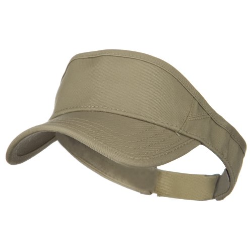Superior Cotton Twill Sun Visor - Khaki OSFM by Otto Caps