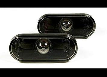 LED Seitenblinker Klar Schwarz Oval Links+Rechts Set E-Pr/üfzeichen Eintragungsfrei