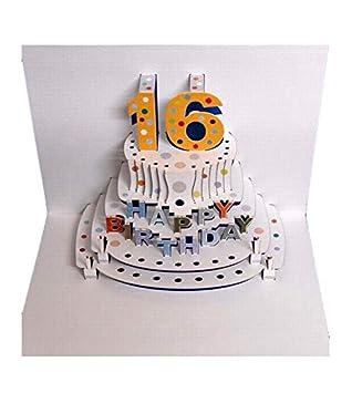 Amazon.com: Tarjeta de cumpleaños 3D con texto en inglés ...
