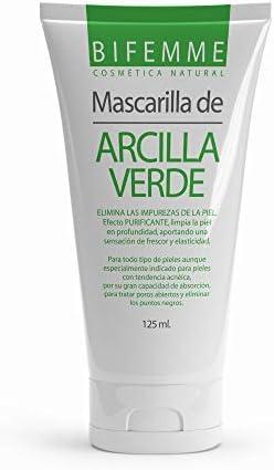Mascarilla Facial de Arcilla Verde| Exfoliante con Sales Minerales| Anti-acné| Limpieza Profunda de Poros y Puntos Negros| Purificante| Piel Más Sana, Elástica y Radiante| 125 ml