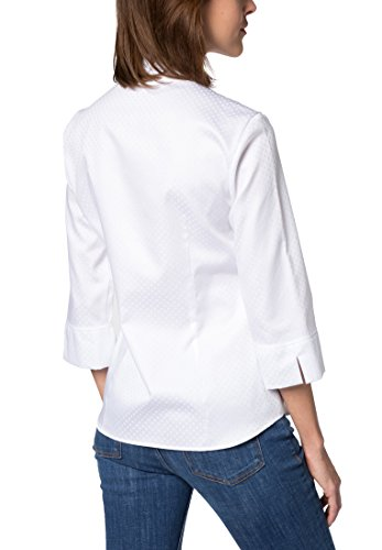 Blouse Modern Uni Sleeve 4 Blanco Jacquard Classic 3 Eterna qvFtAA