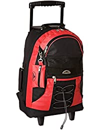 Wheeled Backpack, Red, One Size