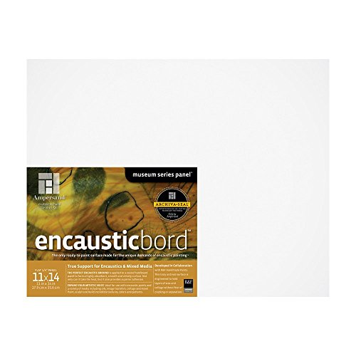 """Encausticbord Painting Panel Size: 11"""" H x 14"""" W"""