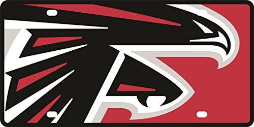 - Atlanta Falcons Printed MEGA Style Deluxe Laser Acrylic License Plate Tag Football