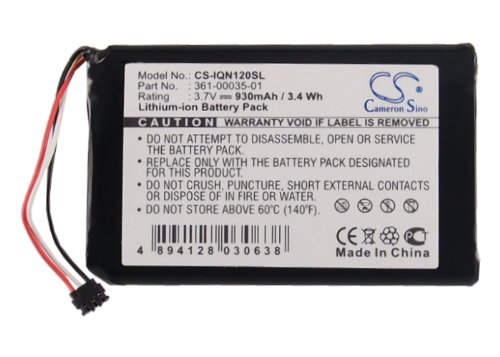 CS 930mAh Li-ion High-Capacity Replacement Batteries for Garmin Nuvi 2595LMT, Nuvi 1200, Nuvi 1205, Nuvi 1205W, Nuvi 1250, fits Garmin 361-00035-01 with tools kit by Cameron Sino (Image #1)