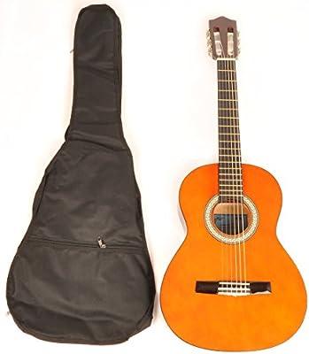 Guitarra clásica acústica 1/2 tamaño (34 cm) para zurdos W/bolsa ...
