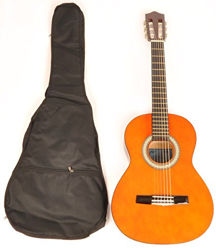 Classical Acoustic Guitar 1/2 Size (34 inch) left handed w/carry bag Omega Class Kit 1/2 NA LH by Omega