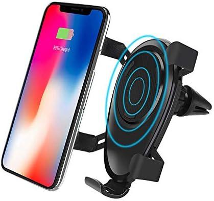 10W高速QI車のワイヤレス充電器 Qi高速充電カーマウントエアベント電話ホルダと互換性ありSamsung S10 / S9 / Note 9 iPhone8 / Max/X/XR