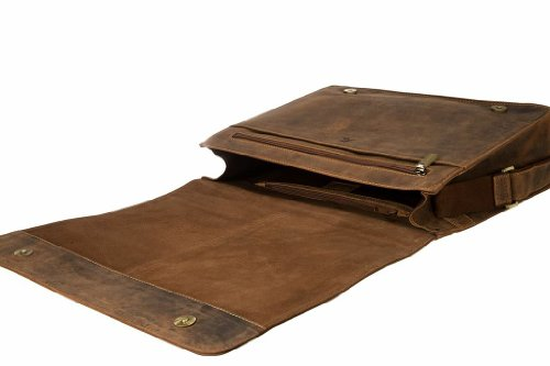 Visconti Visconti Leather Distressed Messenger Bag Harvard Collection, Tan, One Size by Visconti (Image #4)