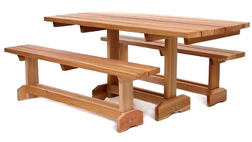 All Things Cedar Wetern Red Cedar 3 pc. Market Table (8 person)