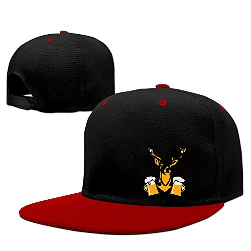 Fashion Deer Beer Party Baseball Cap Unisex Red (Creative Halloween Party Names)