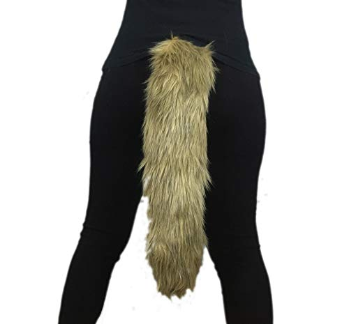 Golden Brown Long Faux Fur Animal Luxury Tail, Cosplay, Anime Lover, Costume Dress Up Pet Play Furry Super Soft Accessory 25