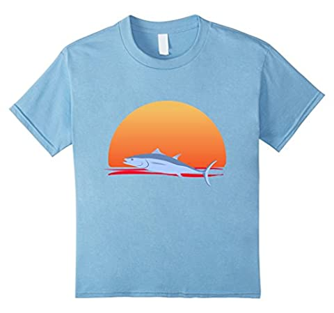 unisex-child Sunset Leaping Fish Novelty T-Shirt 4 Baby Blue - Leaping Fish