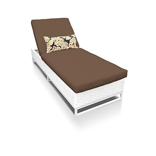 Amazon.com: TKC Miami Patio Chaise Lounge - Tumbona de patio ...