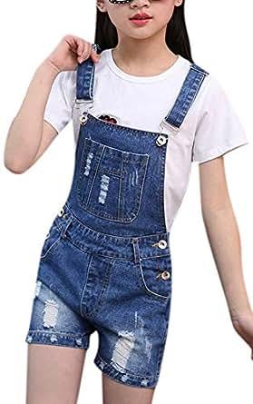 Amazon.com: YOSUNL - Mono de mezclilla azul para niña, con ...