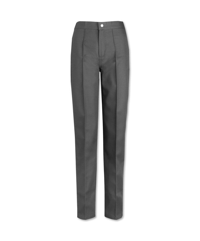 Alexandra STC-W40GR-18 Women's Flat Front Trouser, Plain, 67% Polyester/33% Cotton, Size: 18, Grey