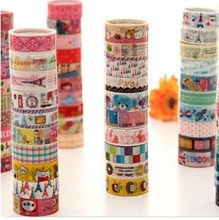 10 Kawaii 5M Tapes Mix Designs Cartoon Adhesive Tape Set for Scrapbooking/Craft (N) Lau & Home