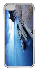 Customized iphone 5C PC Transparent Case - Fishing Along A Rocky Shore Personalized Cover by lolosakes