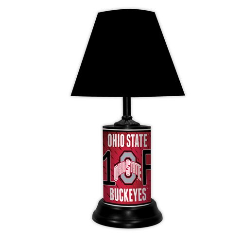 - GTEI Ohio State Buckeyes NCAA #1 Fan Team Logo License Plate Made Desk Lamp with Shade