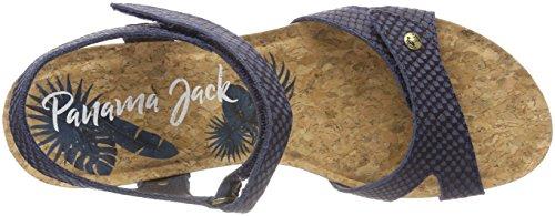 Panama Jack Damen Julia Snake Peeptoe Sandalen Blau (marino / Navy)