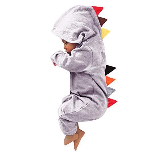 95sCloud Dinosauruspyjama voor jongens en meisjes, jumpsuit, loopoverall, ritssluiting, warme nachtkleding, pyjama's…
