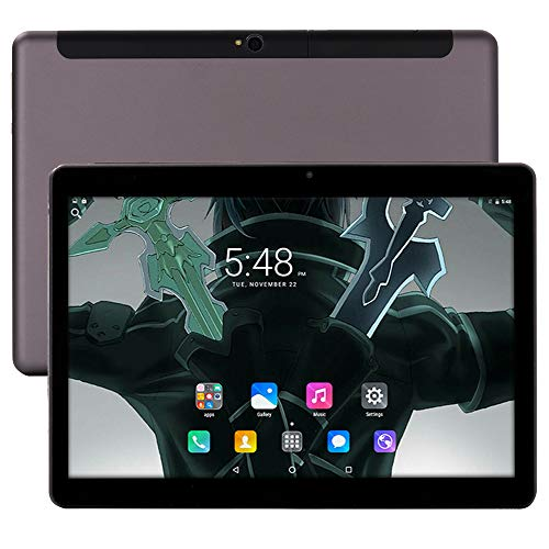 KuBi 10 inch Unlocked 4G WiFi Deca-Core Tablet PC Android 8.0 Lollipop MTK 6797 64G Smart Phone 3G 4G WiFi Google Tablet IPS 1920X1200 GPS Cellphone (Black)
