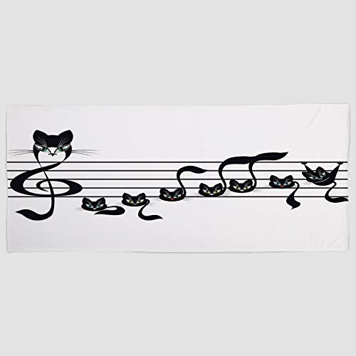 iPrint Cotton Microfiber Hand Towel [ Music Decor,Notes