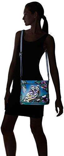 Midnight Handpainted Owl Bag Shoulder Leather Anuschka Owl Midnight gwdqYUx