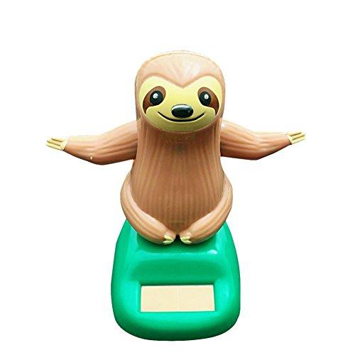VOVI Car Ornaments for Solar Toy Powered Car Decoration Sheep Sloth Car Accessories Cartoon Head Shaking Doll Innovative Halloween Gift Car Ornament