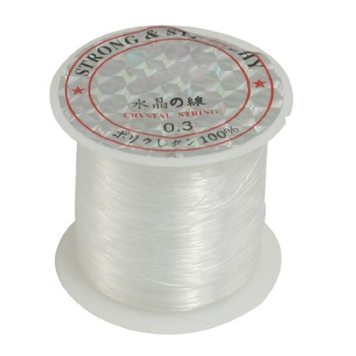 TOOGOO(R) Jewelry Beading Thread 0.3mm Dia. Clear Nylon Fishing Line Spool 17 Lbs