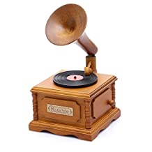 YouTang(TM) Retro Phonograph Music box 18-note Wind-up Musical Box,Musical Toys,Home Decor Gift,Tune:Love Story