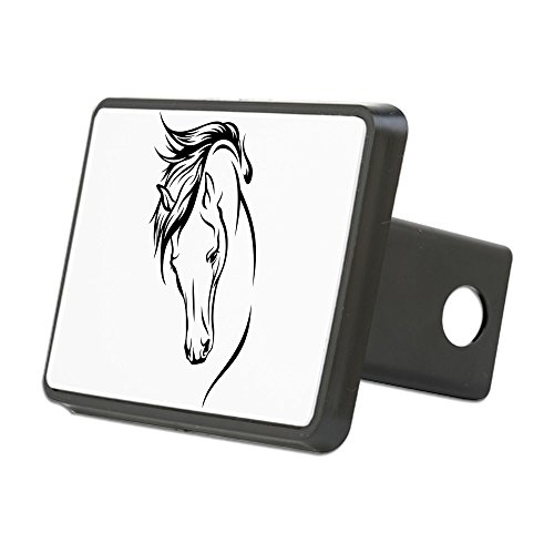 CafePress - Line Drawn Horse Head - Trailer Hitch Cover, Truck Receiver Hitch Plug Insert