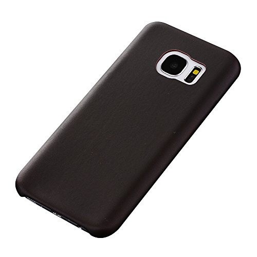 Cuitan Protective Case Cover for Samsung S7, Thermal Sensor Color Change Case for Samsung Galaxy S7, Magic PU Back Cover Shell Skin Soft Phone Case for Galaxy S7 - Dark Brown to Red for Samsung S7
