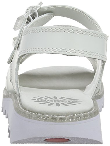 Kickers Kick Trisandal Hr Af - Sandalias de cuero Mujer blanco - White (White)