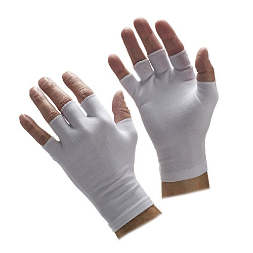 Half Finger White Gloves