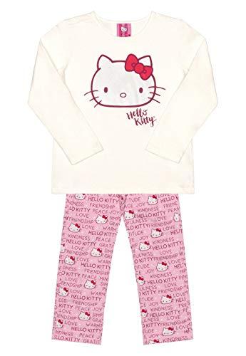 Pijama Blusa Manga Longa E Calça Hello Kitty