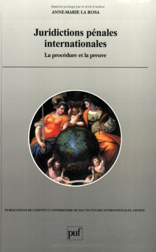 Read Online Juridictions Penales Internationales (French Edition) PDF
