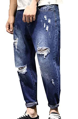 Fit Vita T Stretch Ragazzi Navy Denim Regular Alta Uomo Da Lavati A Super Jeans Classiche In Pantaloni 1gnYvF