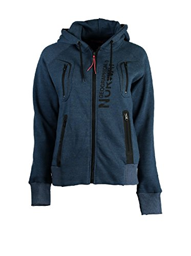 Geographical Norway - Sweat à capuche Femme Geographical Norway Gosepha Marine